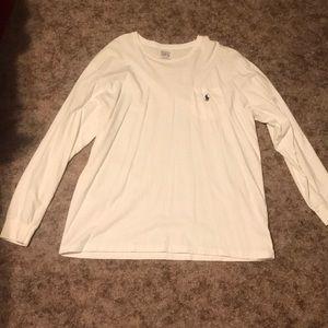 Like new! White polo long sleeved T-shirt